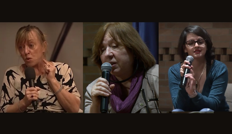 Nobel de Paz Jody Williams, nobel de literatura Svetlana Alexievich, booktuber Juliana Zapata