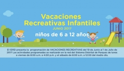 Vacaciones recreativas IDRD